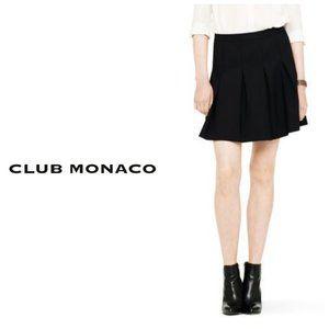 CLUB MONACO CANADA Black Pleated Mini Skirt